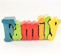 Family Word Plaque Small