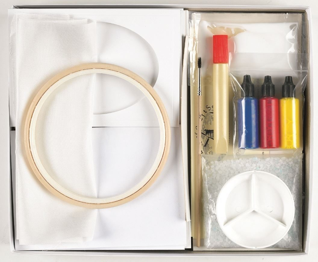 HC410 Silk Painting Card Craft Kit. contents