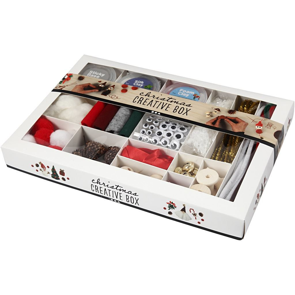 Traditional Christmas Creative Box Set Foam & Silk Clay boxed