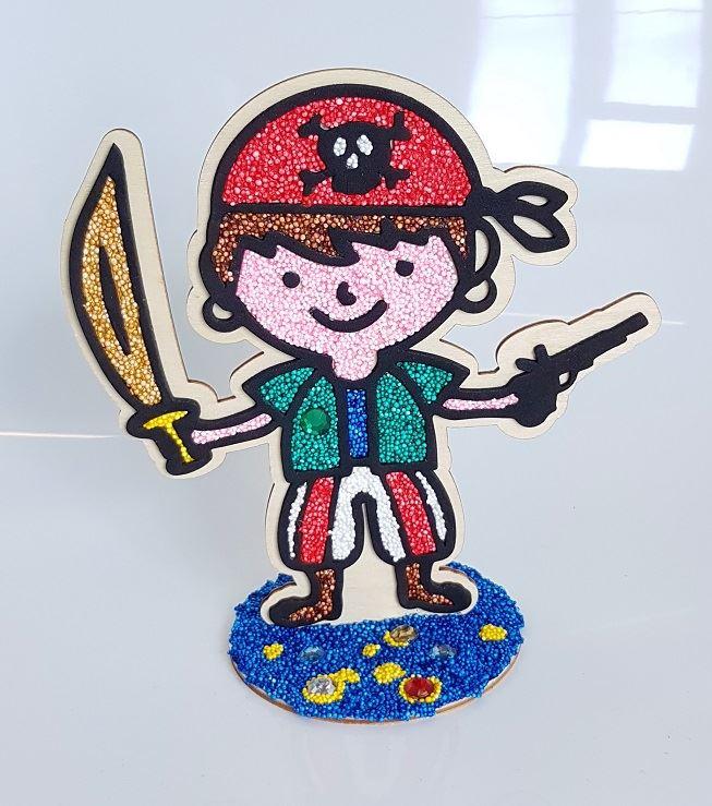 Pirate Wooden Figure in Foam Clay