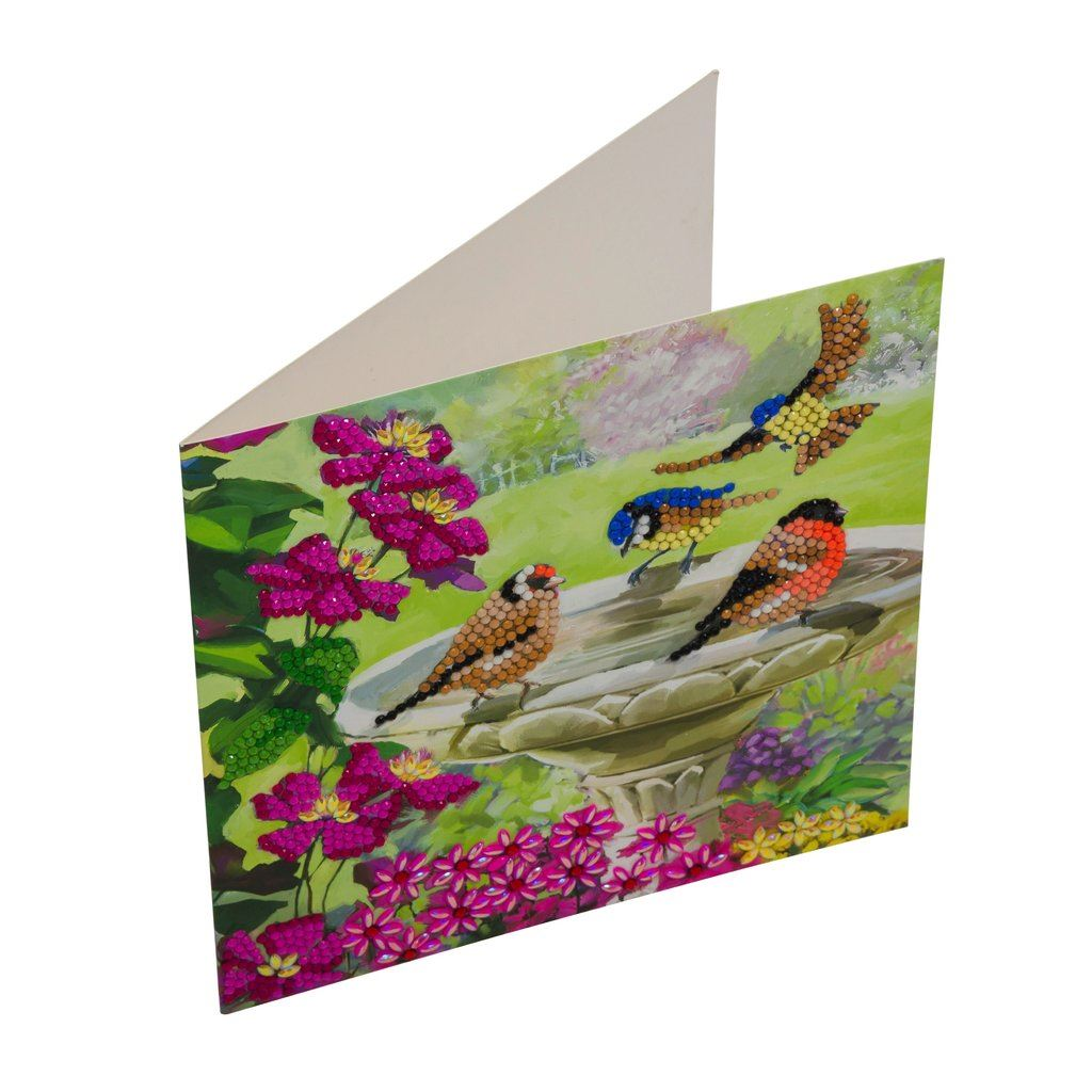 CCK-A50 Birds Crystal Art Card Kit