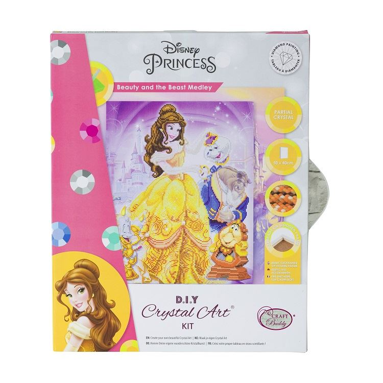 CAK-DNY705L Beauty and The Beast Medley, 40x50cm Crystal Art Canvas Kit (packaging)