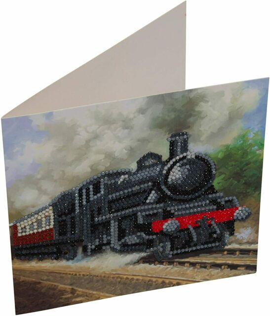 CCK-A43 Train Crystal Art Diamond Art Card Kit