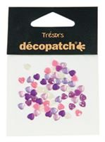 BJ017 Pink/Purple Hearts- Decopatch Gems Pack of 60
