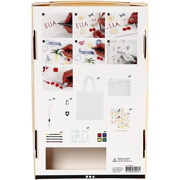 CH97066 DIY Summer Fun Fabric Painting Kit contents
