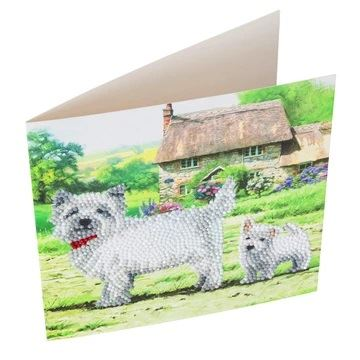CCK-A52 Westie Dog Crystal Card Kit