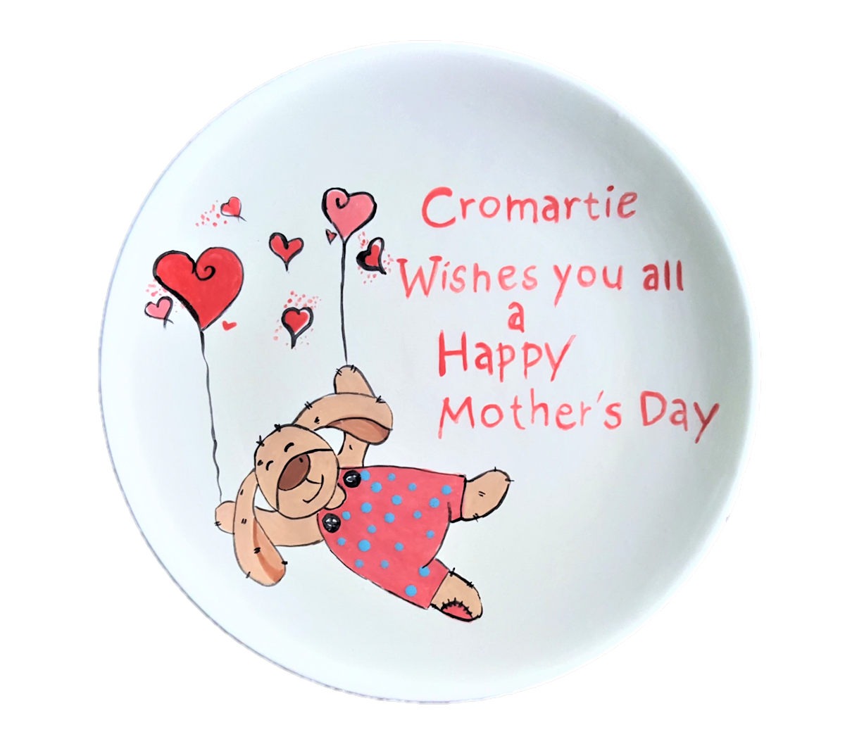 Coupe Dinner Plate with Mothers Day Design