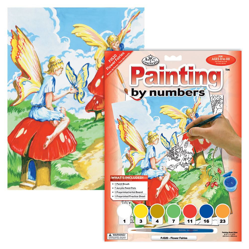 PJS20 Flower Fairies Painting by Numbers Kit outers