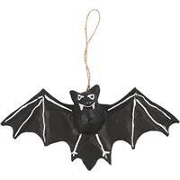 Bat - Papier Mache Hanging Ornament 22cm W