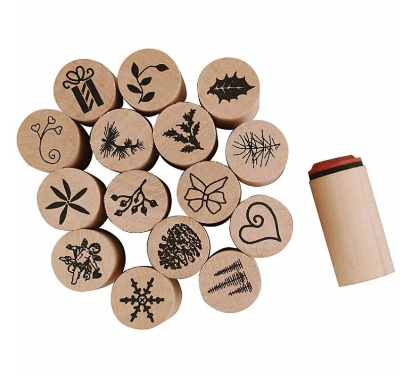 Deco Art Wooden Rubber Stamps 20mm, Christmas