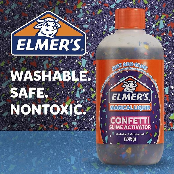 Elmers Confetti Magical Liquid for Slime Making 245g (4)