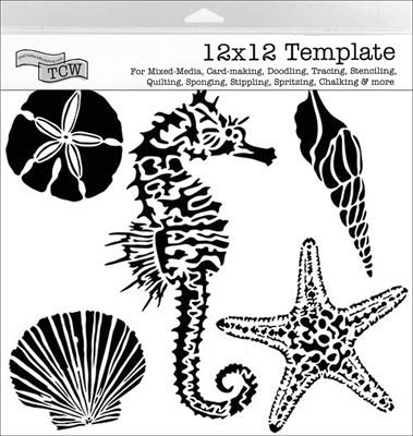 TCW496 Sea Creatures Craft Acrylic Stencil
