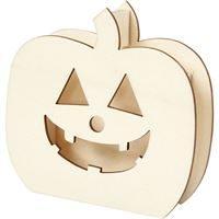 Wooden Pumpkin Head 13cm H