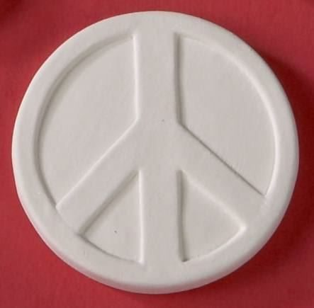 "BISQUIES LARGE PEACE SIGN 2.25""d"