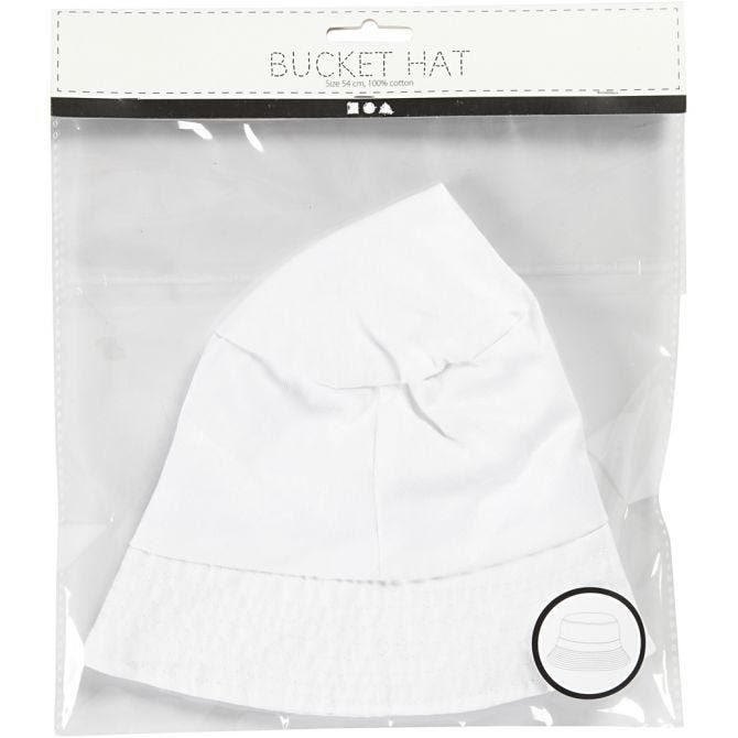 CH995791 Bucket Hat White 54cm for fabric decorating in pack