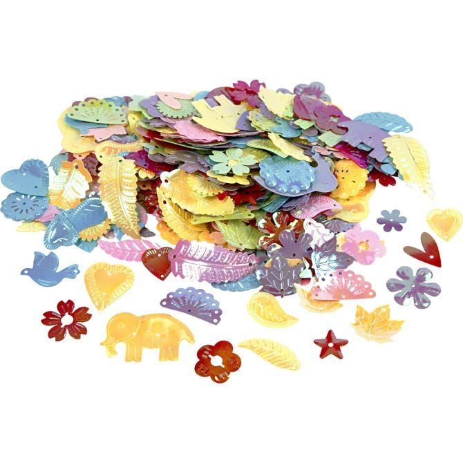 Candy Colour Sequins (15-45mm) 30g