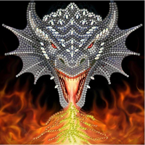 CCK-A72 Firehead Dragon Crystal Art Card Kit