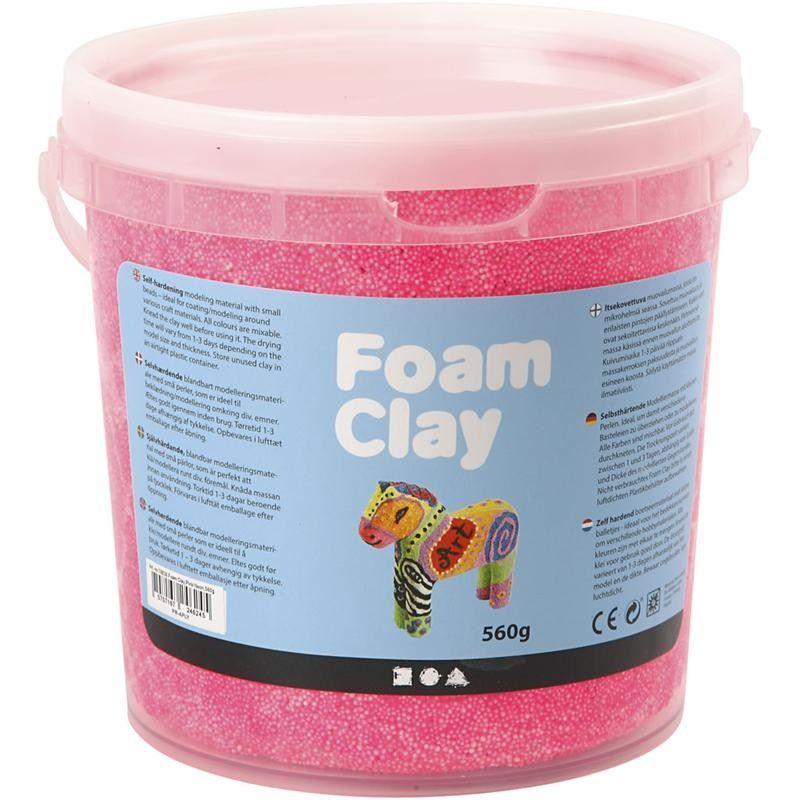 ch78826 Neon Pink Foam Clay