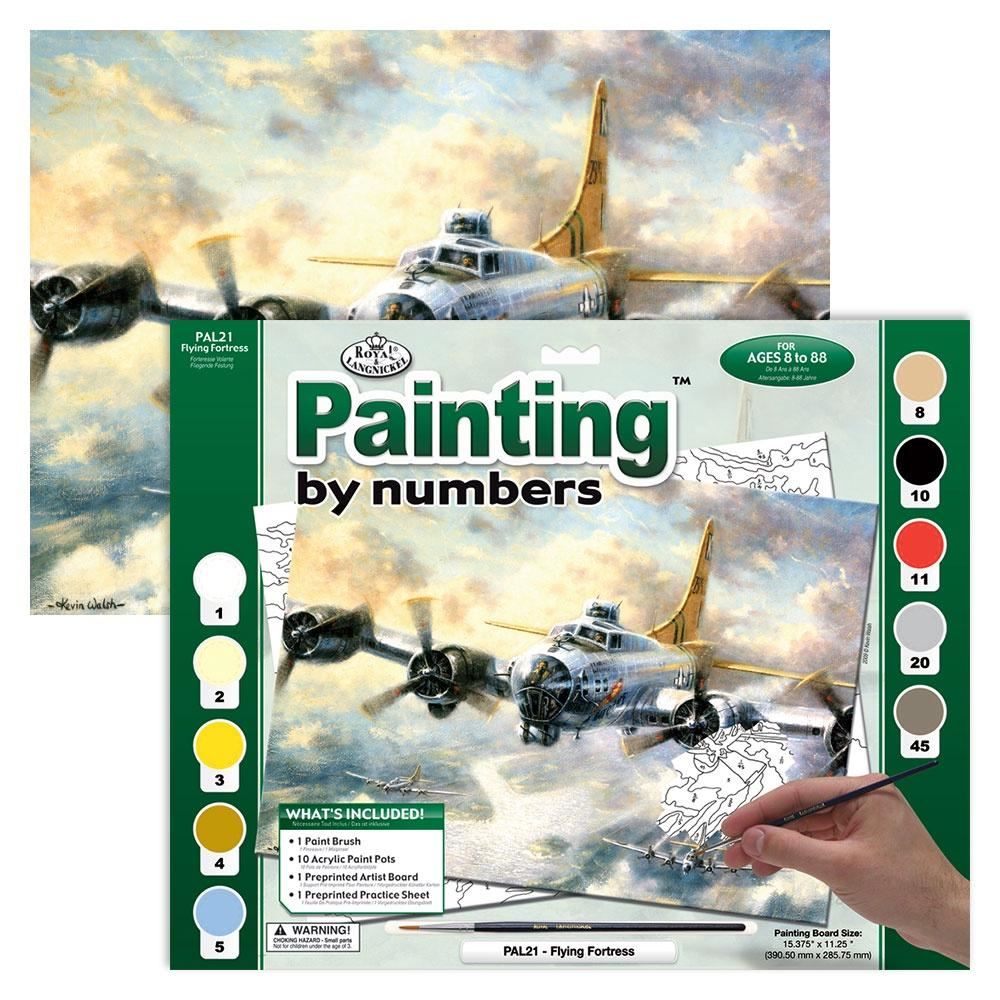 PAL21 Flying Fortress Painting by Numbers Kit