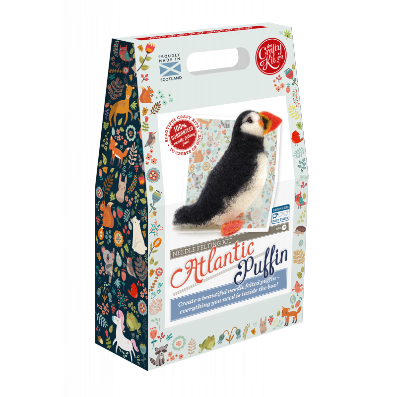 Atlantic Puffin Needle Felting Kit box