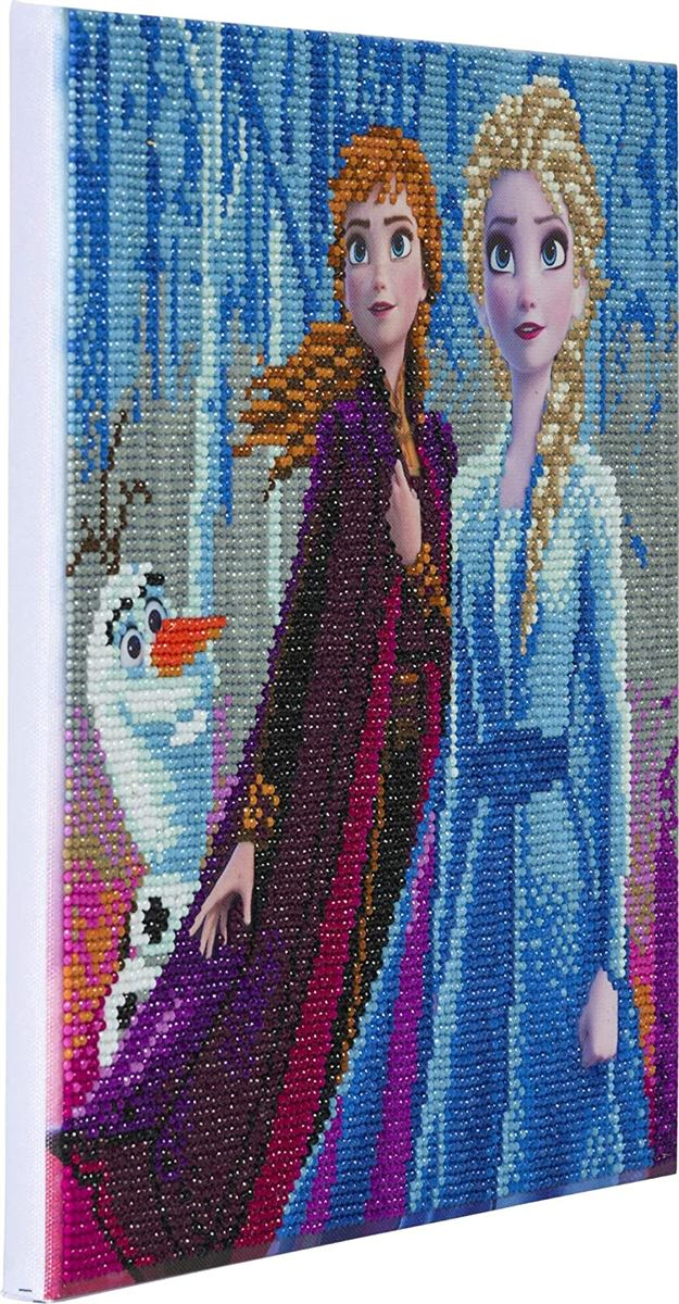 Elsa, Anna & Olaf - Crystal Art Kit 30cm