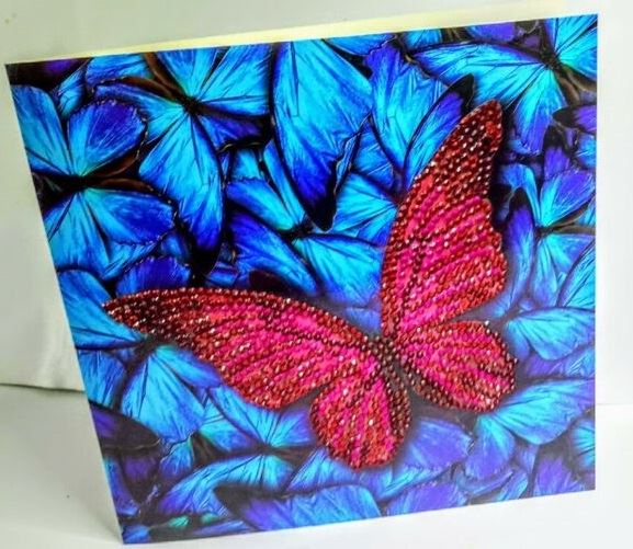 Butterfly- Crystal Art Card 5D Diamond Painting Kit