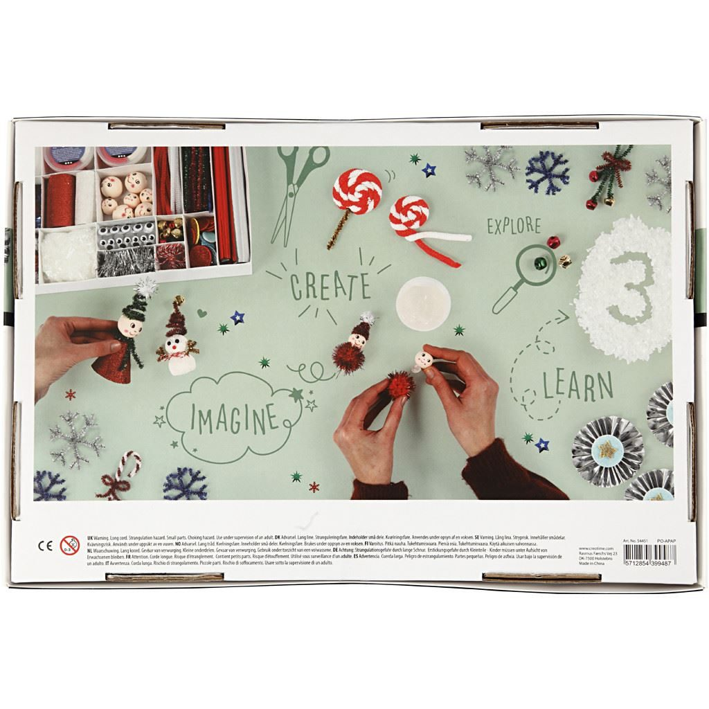 Magical Christmas Creative Craft Gift Box 54451 reverse of box