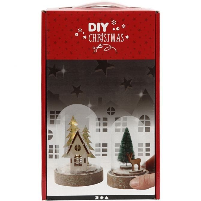 Bells Kits with Wooden Christmas Scene (2)