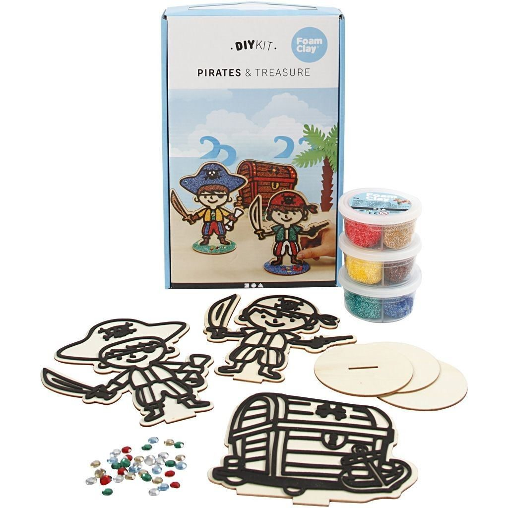 CH79196 Pirate Themed Wooden Set (3 Assorted)