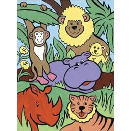 Jungle Animals - Painting By Numbers MFP9