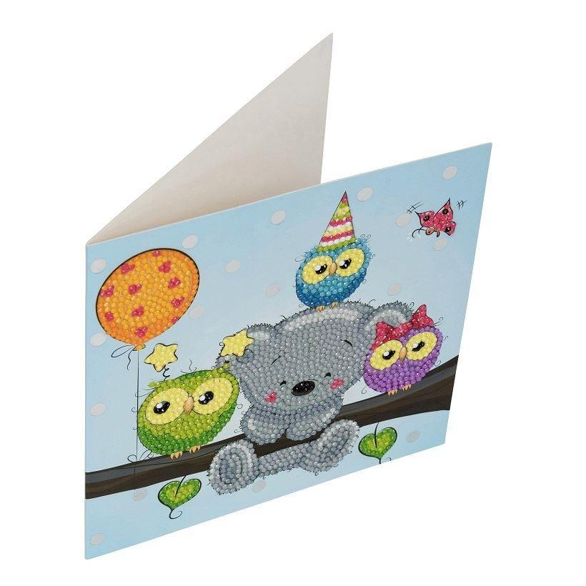 Birthday Friends - Crystal Art Card 18cm