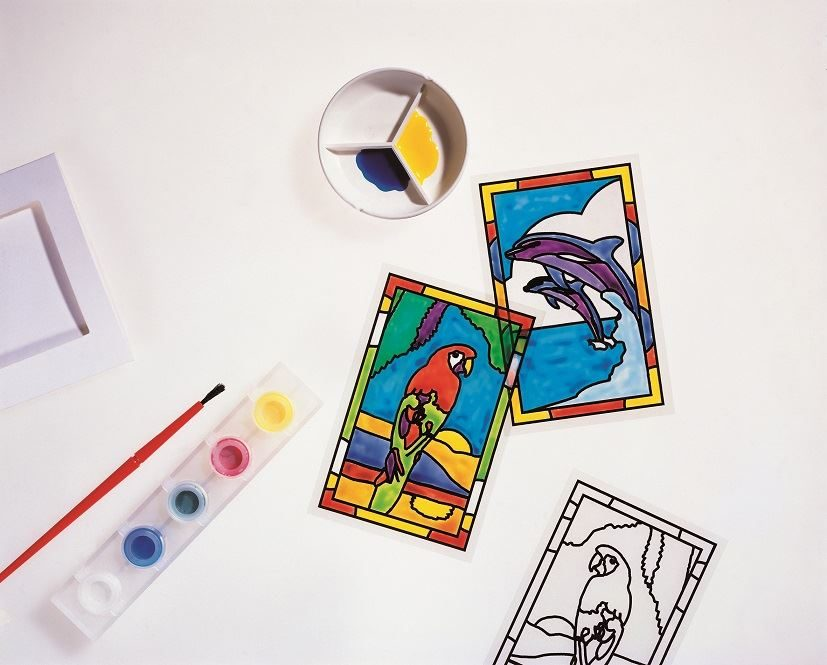 Glass Painting Craft Kit contents