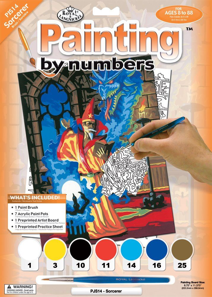 PJS14 Sorcerer Painting by Numbers kit outer