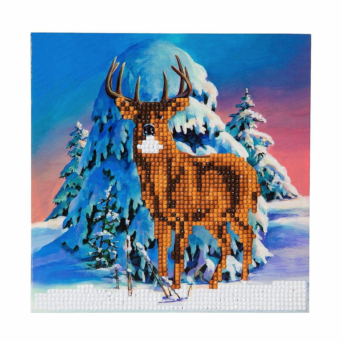 CCK-XM5 Winter Stag Crystal Art Card Kit