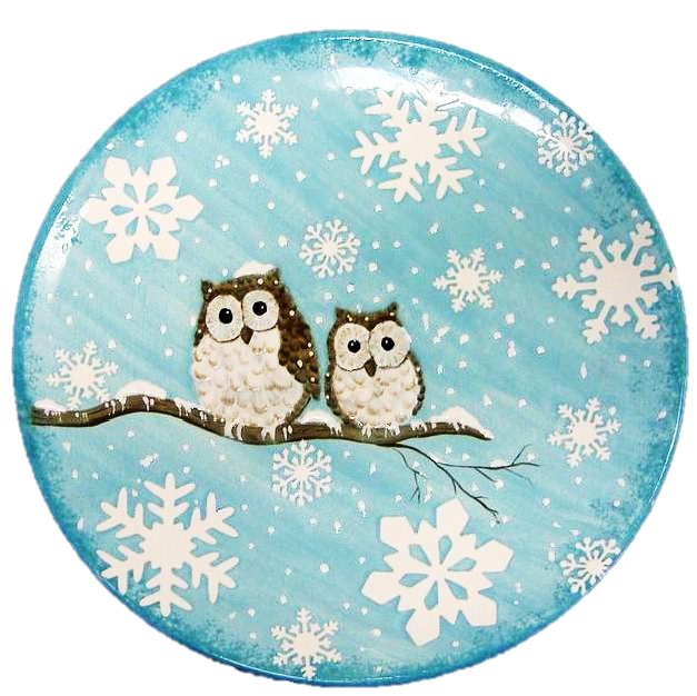 1005 Tuscany Coupe Dinner Plate with Owl Design