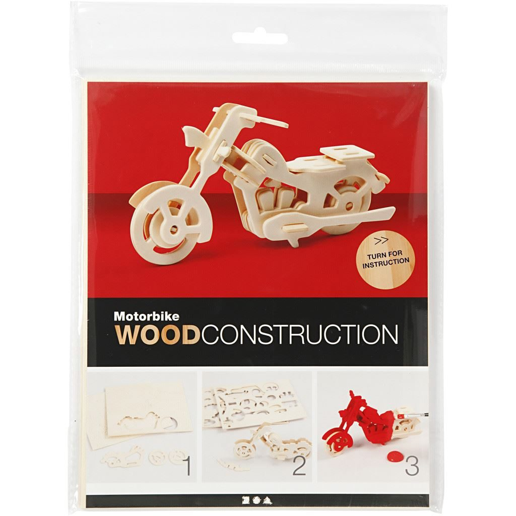 CH580504 Motorbike Wooden Construction Craft Kit pack