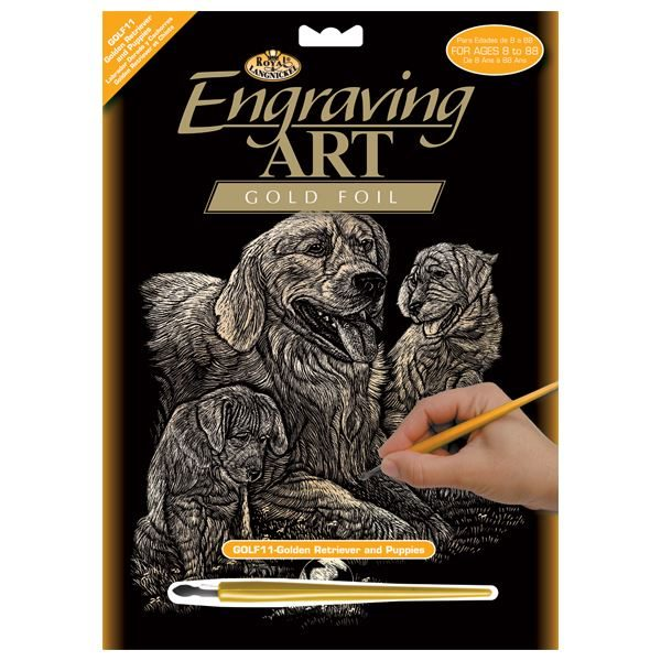 GOLF11-Retriever and Puppy Engraving Kit