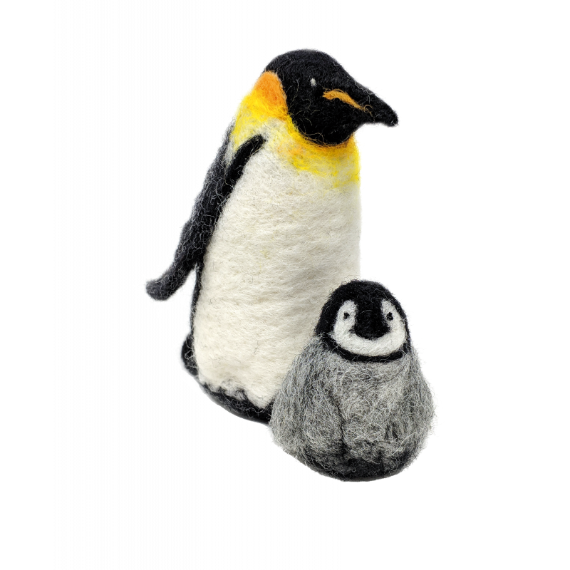 CKC-NF-151 Emporer Penguins Needle Felting