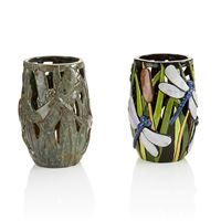 5356 Dragonfly Lantern in Pottery Glazes and Fun Strokes