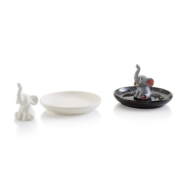 5326 Elephant Tiny Topper with Ring Holder Dish
