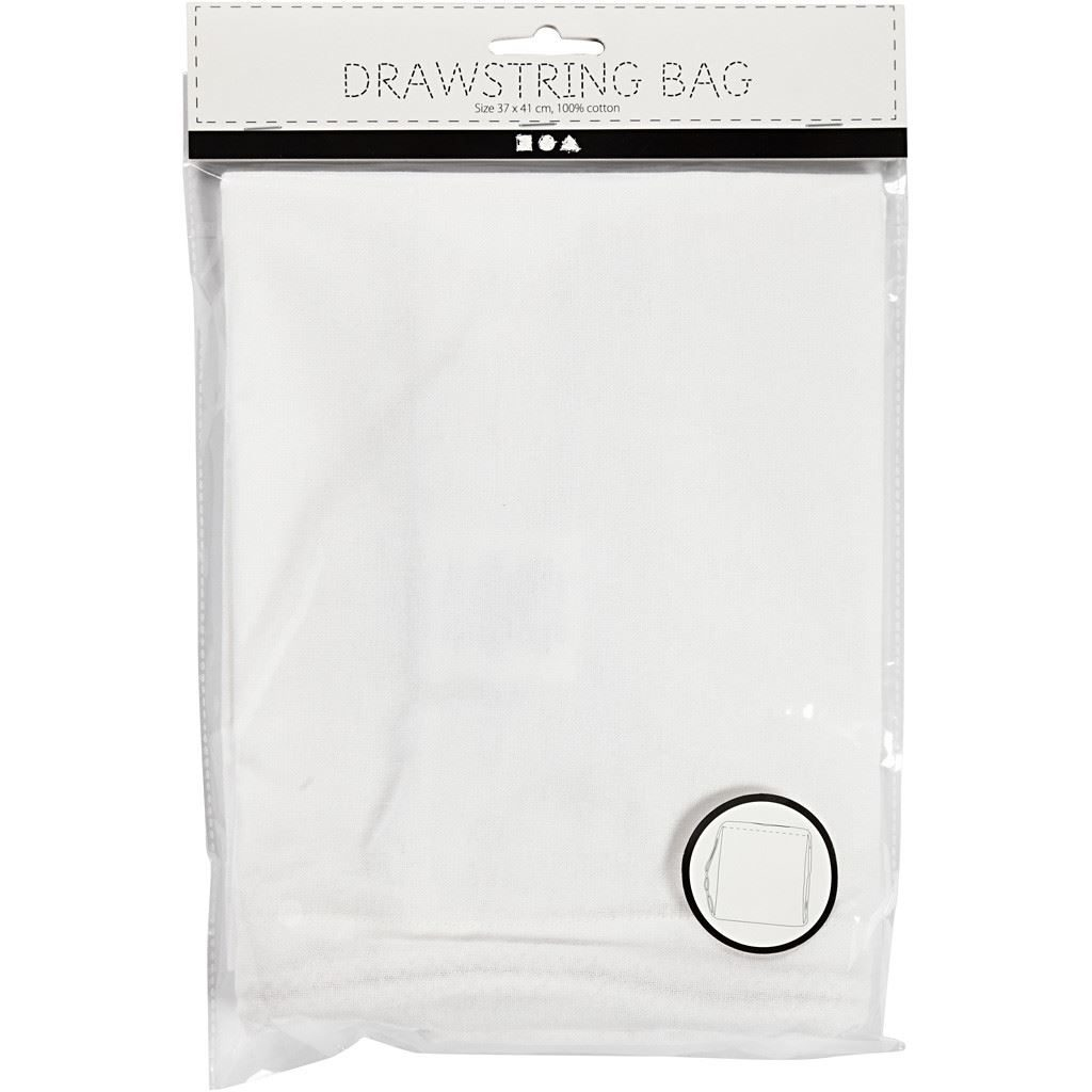 Drawstring Bag Textiles for Decorating in pack