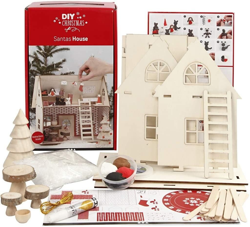 DIY Kit Christmas Santa House unboxedjpg