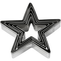 CH782881 Star Clay Cookie Cutters 8cm Modelling Clay Tools