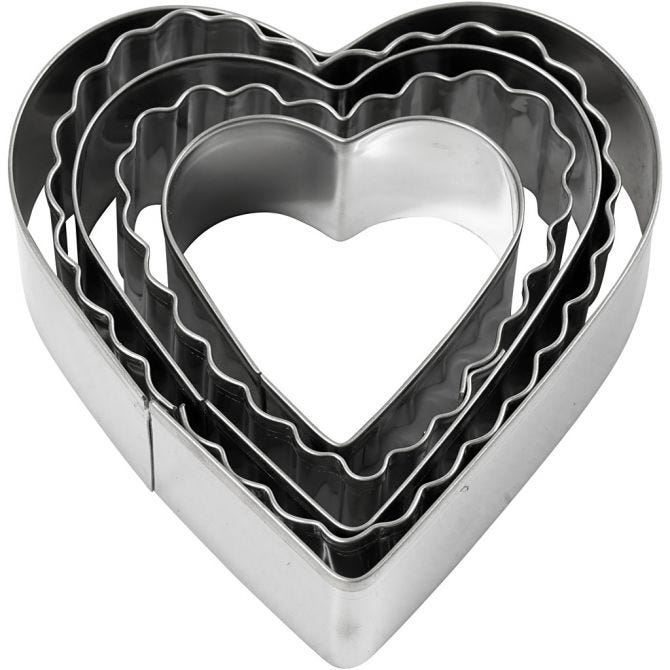 CH782883 Heart Clay Tool Cookie Cutters 8cm