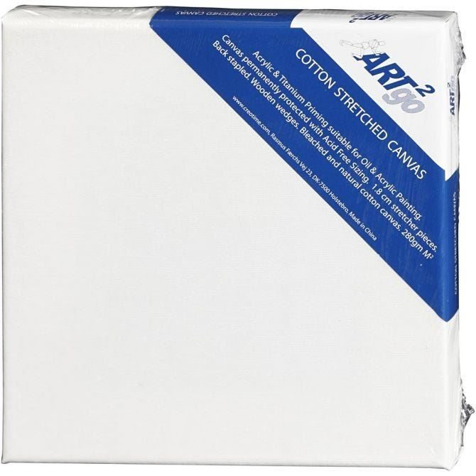 White Canvas (20cm  x 20cm) Pack of 6