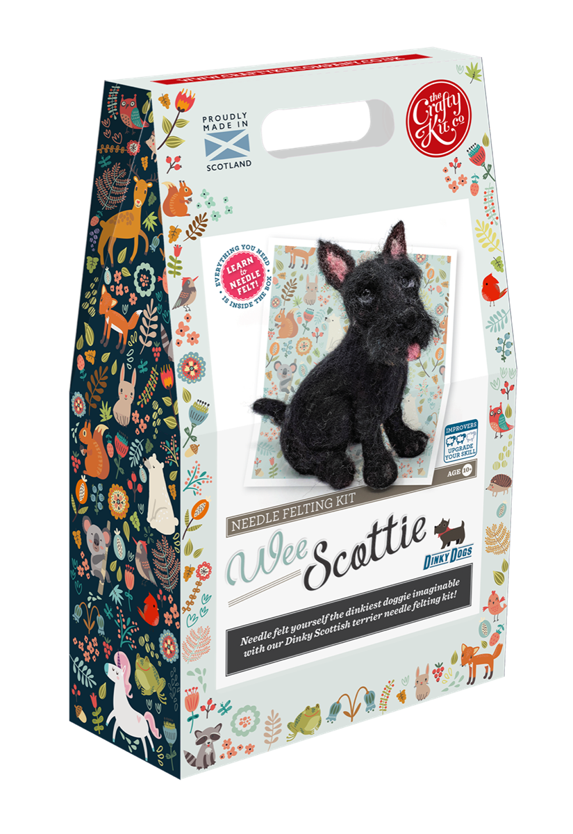 Wee Scottie Needle Felting Kit box