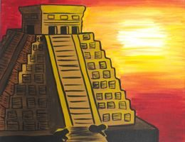 Mayan Temple Sunset- Canvas Design Pattern Pack