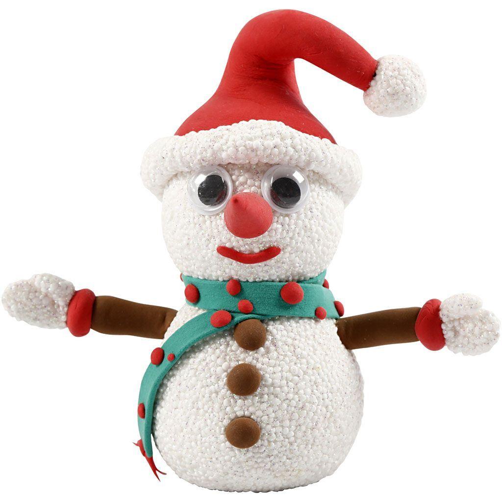 CH100613 Funny Friends Snowman Silk Clay Foam Clay Kit