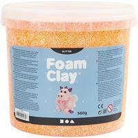 780863 Orange Glitter Foam Clay 560g