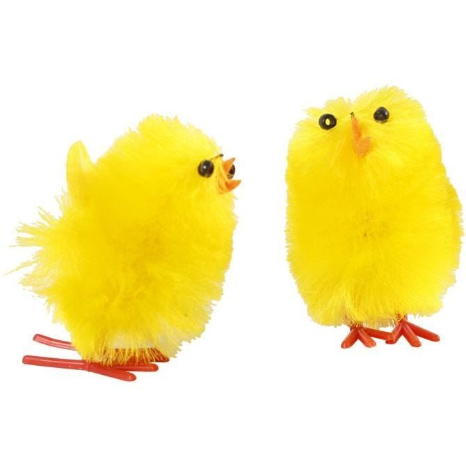 CH51653 Easter Chicks Craft Decoration, yellow